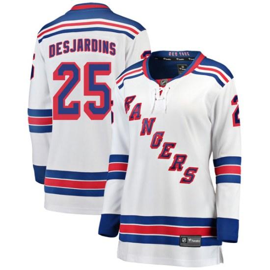Fanatics Branded Andrew Desjardins New York Rangers Women's Breakaway Away Jersey - White