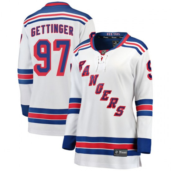 Fanatics Branded Timothy Gettinger New York Rangers Women's Breakaway Away Jersey - White
