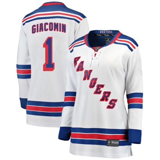 Fanatics Branded Eddie Giacomin New York Rangers Women's Breakaway Away Jersey - White