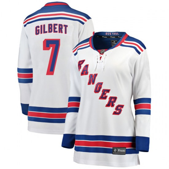 Fanatics Branded Rod Gilbert New York Rangers Women's Breakaway Away Jersey - White