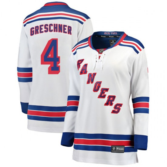 Fanatics Branded Ron Greschner New York Rangers Women's Breakaway Away Jersey - White