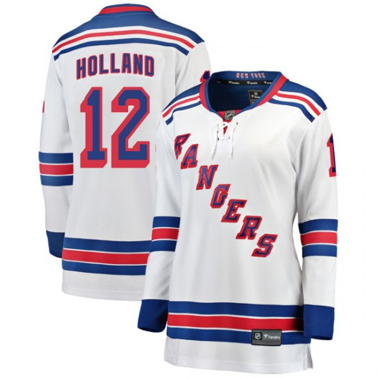 Fanatics Branded Peter Holland New York Rangers Women's Breakaway Away Jersey - White