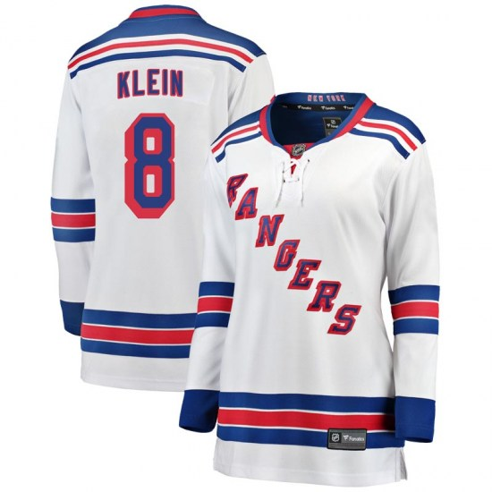 Fanatics Branded Kevin Klein New York Rangers Women's Breakaway Away Jersey - White