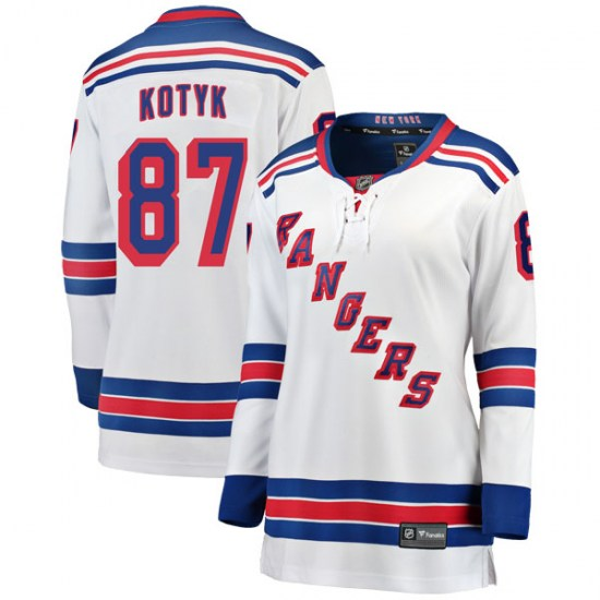 Fanatics Branded Brenden Kotyk New York Rangers Women's Breakaway Away Jersey - White
