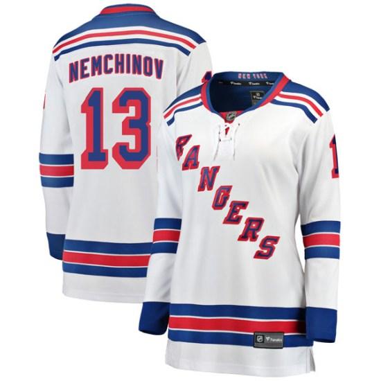 Fanatics Branded Sergei Nemchinov New York Rangers Women's Breakaway Away Jersey - White