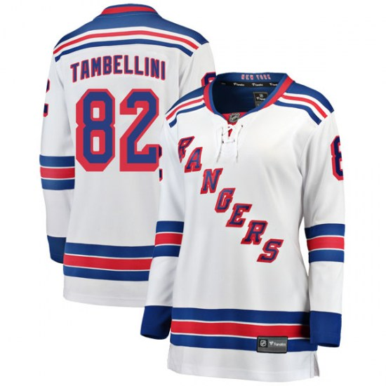 Fanatics Branded Adam Tambellini New York Rangers Women's Breakaway Away Jersey - White