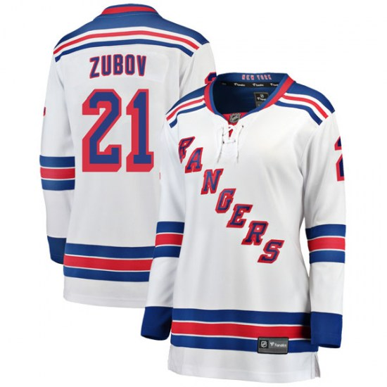 Fanatics Branded Sergei Zubov New York Rangers Women's Breakaway Away Jersey - White