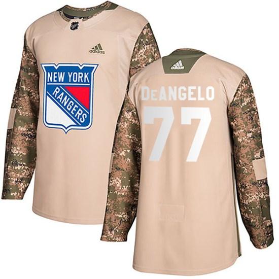 Adidas Tony DeAngelo New York Rangers Youth Authentic Veterans Day Practice Jersey - Camo