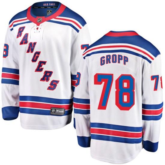 Fanatics Branded Ryan Gropp New York Rangers Breakaway Away Jersey - White