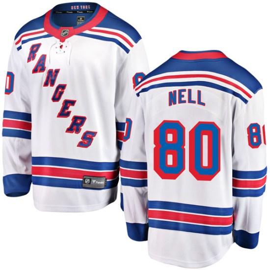 Fanatics Branded Chris Nell New York Rangers Breakaway Away Jersey - White