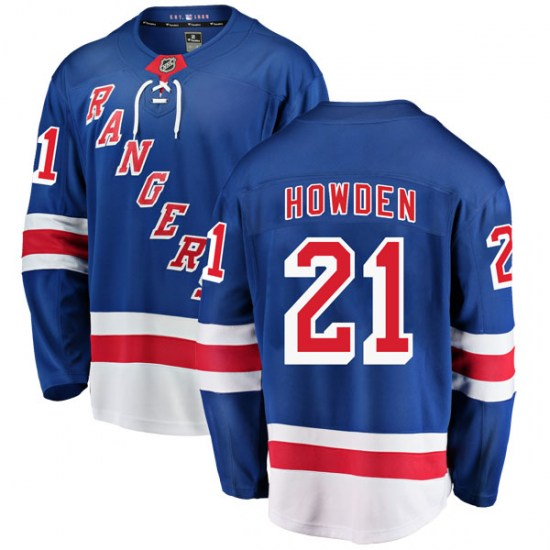 Fanatics Branded Brett Howden New York Rangers Breakaway Home Jersey - Blue