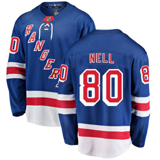 Fanatics Branded Chris Nell New York Rangers Breakaway Home Jersey - Blue