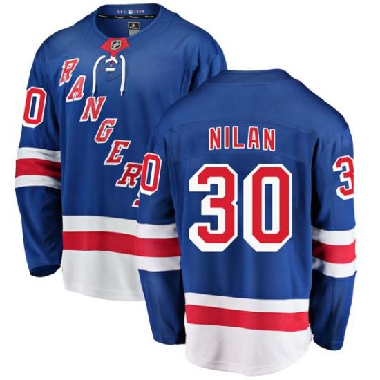 Fanatics Branded Chris Nilan New York Rangers Breakaway Home Jersey - Blue