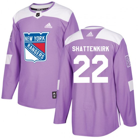 Adidas Kevin Shattenkirk New York Rangers Authentic Fights Cancer Practice Jersey - Purple