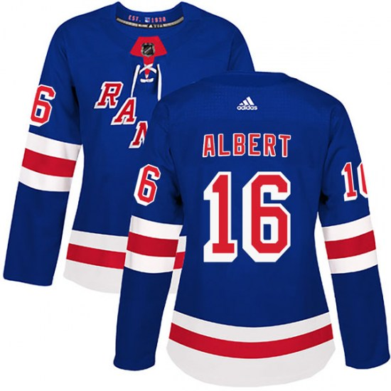 Adidas John Albert New York Rangers Women's Authentic Home Jersey - Royal Blue