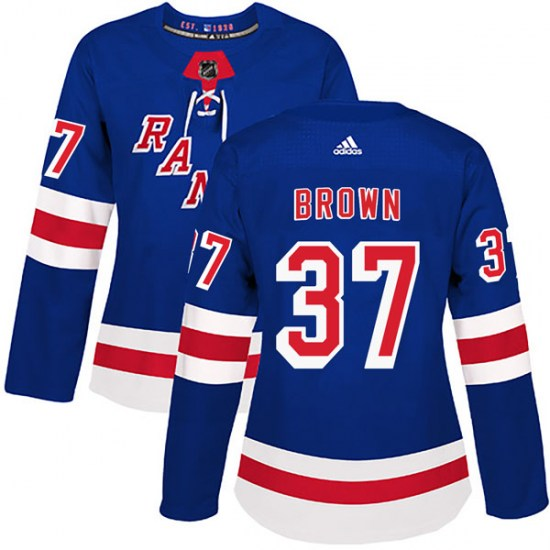 Adidas Chris Brown New York Rangers Women's Authentic Home Jersey - Royal Blue