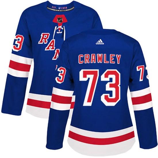 Adidas Brandon Crawley New York Rangers Women's Authentic Home Jersey - Royal Blue