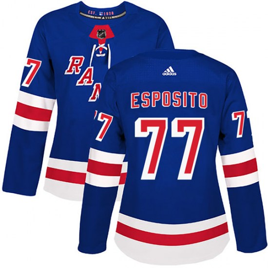Adidas Phil Esposito New York Rangers Women's Authentic Home Jersey - Royal Blue