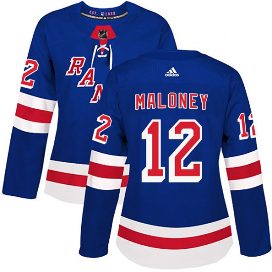 Adidas Don Maloney New York Rangers Women's Authentic Home Jersey - Royal Blue