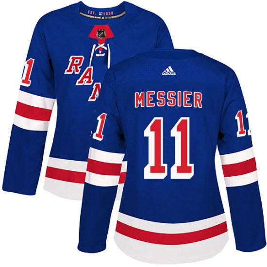 Adidas Mark Messier New York Rangers Women's Authentic Home Jersey - Royal Blue