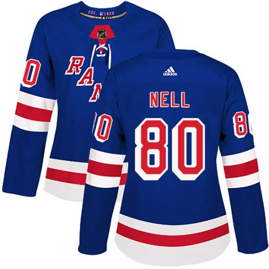 Adidas Chris Nell New York Rangers Women's Authentic Home Jersey - Royal Blue
