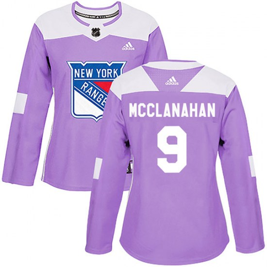 Adidas Rob Mcclanahan New York Rangers Women's Authentic Fights Cancer Practice Jersey - Purple
