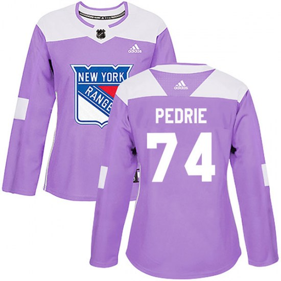 Adidas Vince Pedrie New York Rangers Women's Authentic Fights Cancer Practice Jersey - Purple