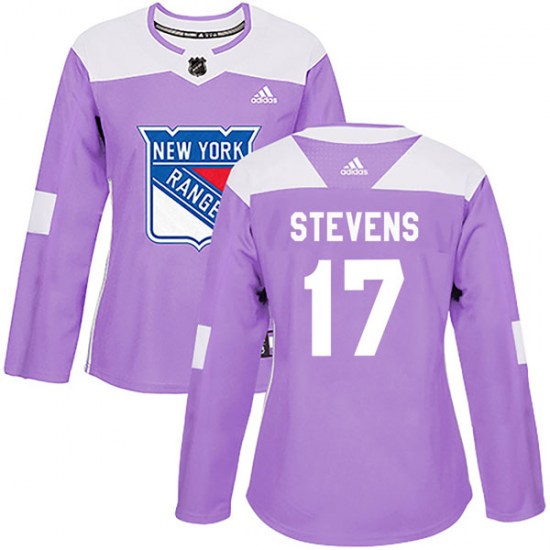 Adidas Kevin Stevens New York Rangers Women's Authentic Fights Cancer Practice Jersey - Purple