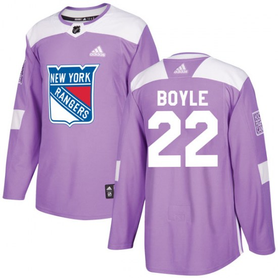Adidas Dan Boyle New York Rangers Youth Authentic Fights Cancer Practice Jersey - Purple