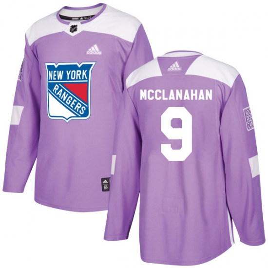 Adidas Rob Mcclanahan New York Rangers Youth Authentic Fights Cancer Practice Jersey - Purple