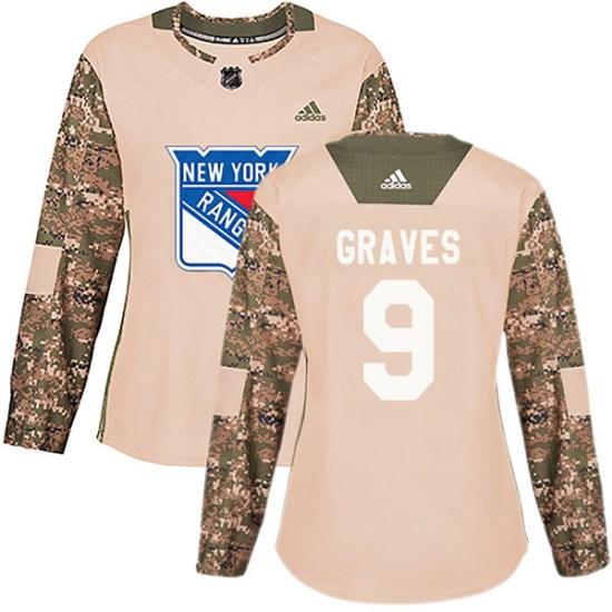 Adidas Adam Graves New York Rangers Women's Authentic Veterans Day Practice Jersey - Camo