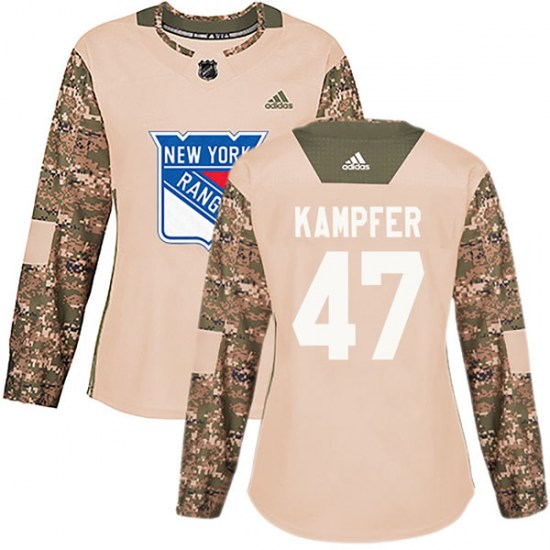 Adidas Steven Kampfer New York Rangers Women's Authentic Veterans Day Practice Jersey - Camo