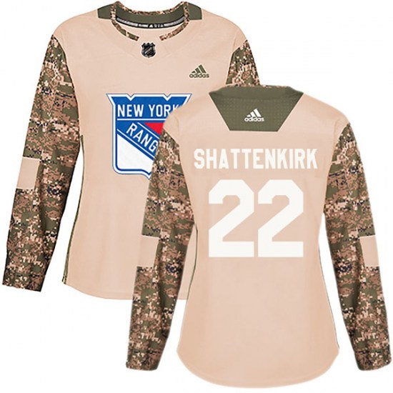 Adidas Kevin Shattenkirk New York Rangers Women's Authentic Veterans Day Practice Jersey - Camo