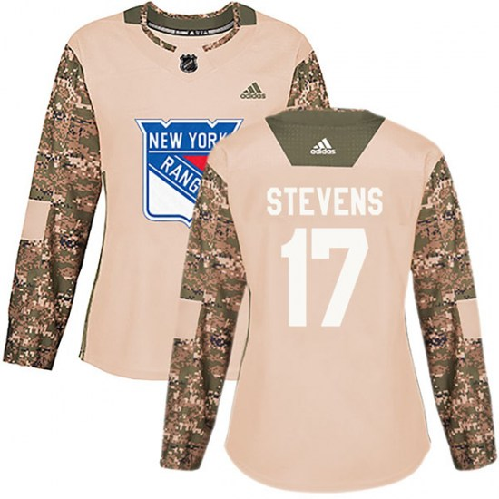 Adidas Kevin Stevens New York Rangers Women's Authentic Veterans Day Practice Jersey - Camo