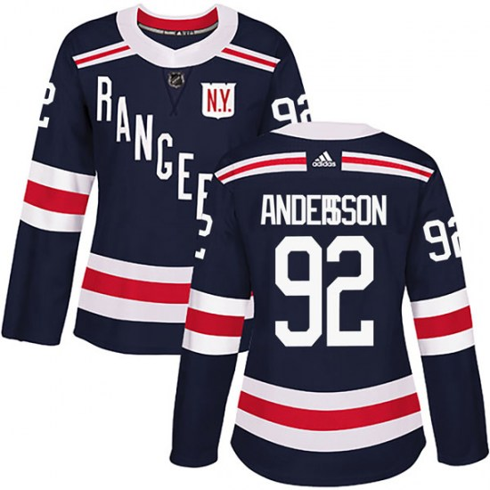 Adidas Calle Andersson New York Rangers Women's Authentic 2018 Winter Classic Home Jersey - Navy Blue