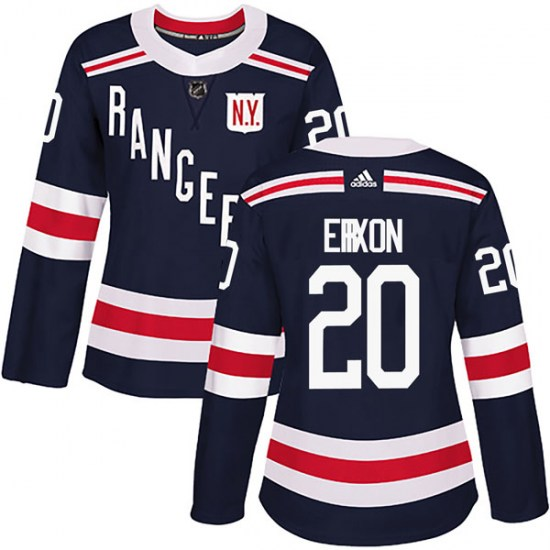Adidas Jan Erixon New York Rangers Women's Authentic 2018 Winter Classic Home Jersey - Navy Blue
