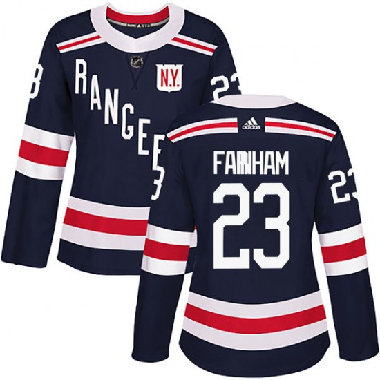 Adidas Bobby Farnham New York Rangers Women's Authentic 2018 Winter Classic Home Jersey - Navy Blue