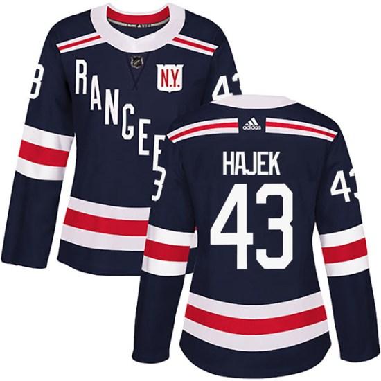 Adidas Libor Hajek New York Rangers Women's Authentic 2018 Winter Classic Home Jersey - Navy Blue