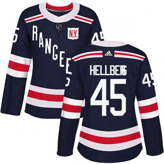 be78a891e Adidas Magnus Hellberg New York Rangers Women s Authentic 2018 Winter  Classic Home Jersey - Navy Blue