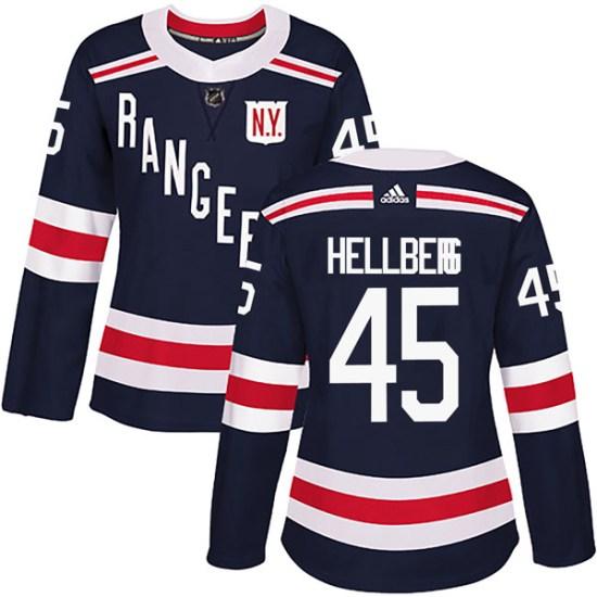 Adidas Magnus Hellberg New York Rangers Women's Authentic 2018 Winter Classic Home Jersey - Navy Blue