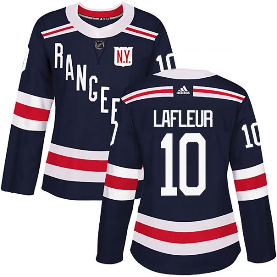 Adidas Guy Lafleur New York Rangers Women's Authentic 2018 Winter Classic Home Jersey - Navy Blue