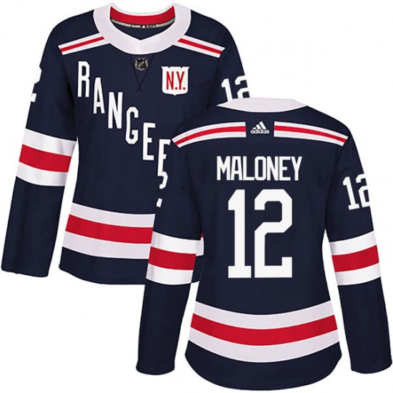 Adidas Don Maloney New York Rangers Women's Authentic 2018 Winter Classic Home Jersey - Navy Blue