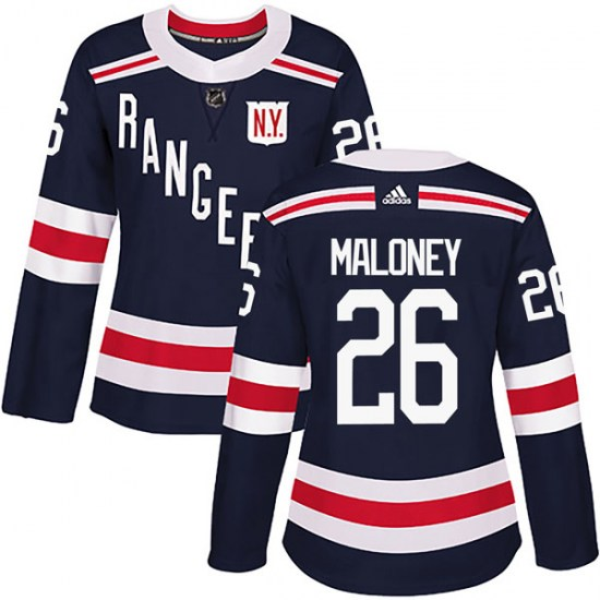 Adidas Dave Maloney New York Rangers Women's Authentic 2018 Winter Classic Home Jersey - Navy Blue