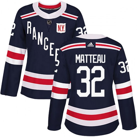 Adidas Stephane Matteau New York Rangers Women's Authentic 2018 Winter Classic Home Jersey - Navy Blue