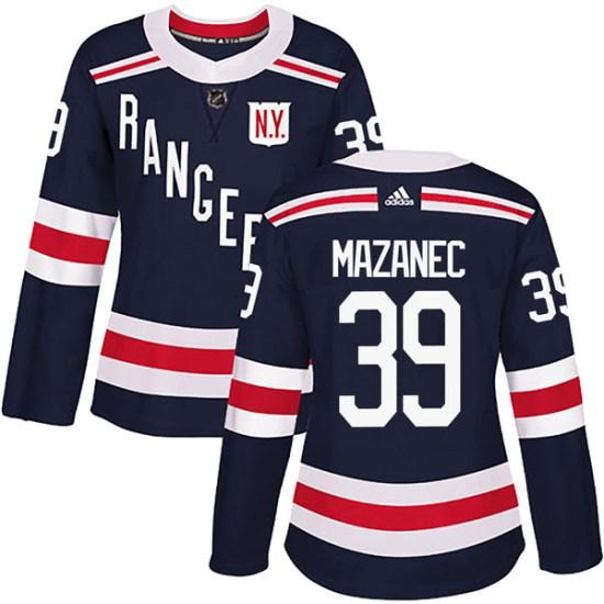 Adidas Marek Mazanec New York Rangers Women's Authentic 2018 Winter Classic Home Jersey - Navy Blue