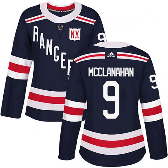 Adidas Rob Mcclanahan New York Rangers Women's Authentic 2018 Winter Classic Home Jersey - Navy Blue