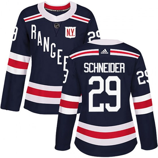 Adidas Cole Schneider New York Rangers Women's Authentic 2018 Winter Classic Home Jersey - Navy Blue