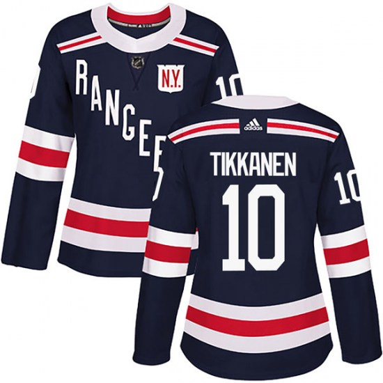 Adidas Esa Tikkanen New York Rangers Women's Authentic 2018 Winter Classic Home Jersey - Navy Blue