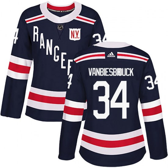 Adidas John Vanbiesbrouck New York Rangers Women's Authentic 2018 Winter Classic Home Jersey - Navy Blue