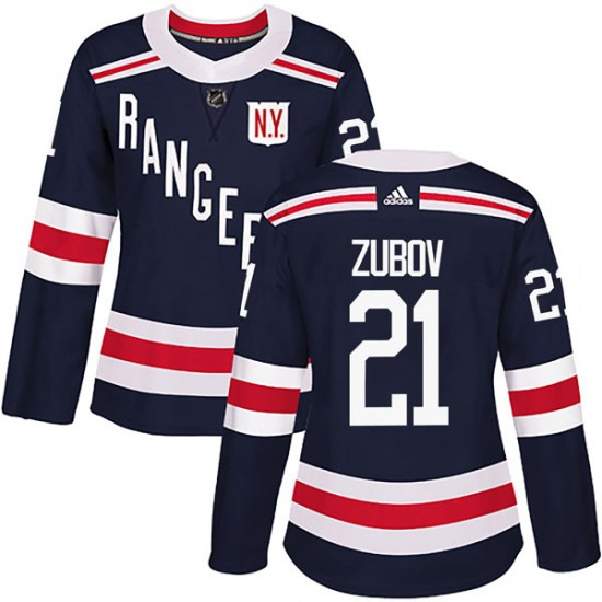 Adidas Sergei Zubov New York Rangers Women's Authentic 2018 Winter Classic Home Jersey - Navy Blue
